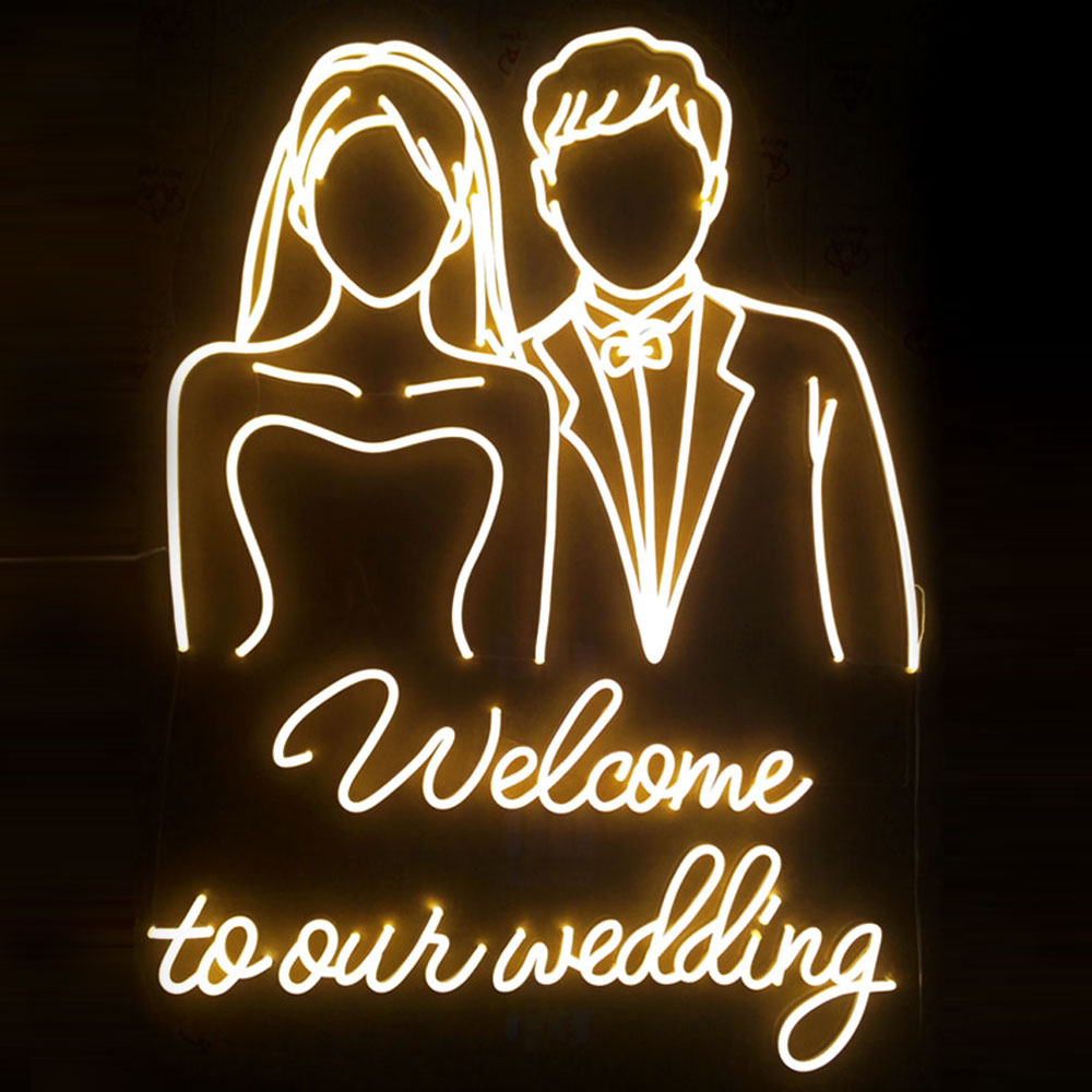 Customized Full Color Lights Smile Heart Signs And Neon Signs Warm Neon Lights Flexible Neon Signs For Wedding Party