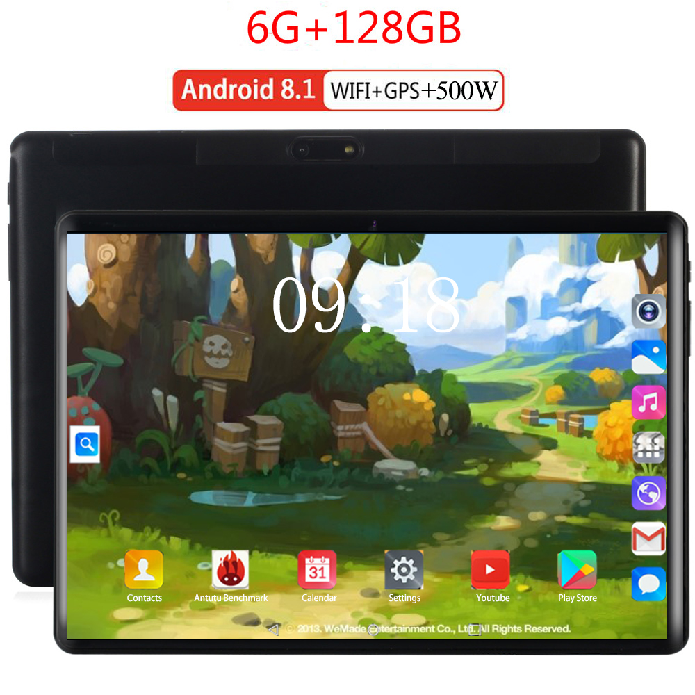 2020 Gift Tablet 4G LTE 10.1 Inch 2.5D Tablet Pc 10 Octa Core MTK8752 6GB RAM 128GB ROM 1280*800 Android 8.0 Kids Tablet