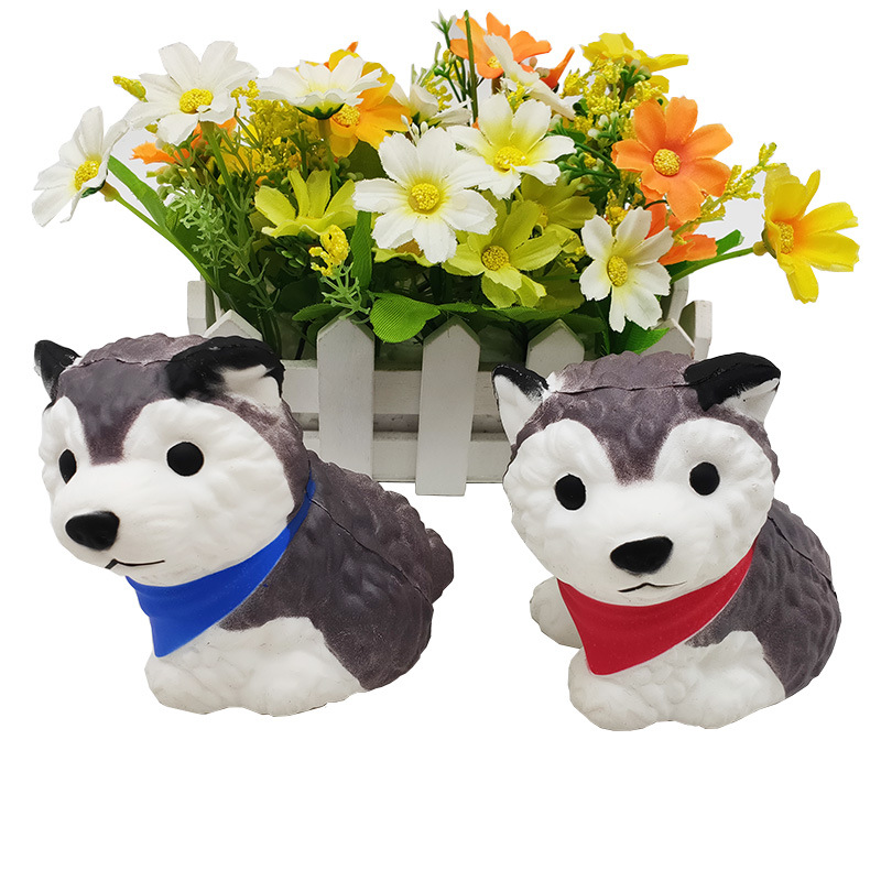 Squishy Toy Simulation Husky Toy Decompression Toys Children's Fun Gifts Slow Rebound Cow Husky Decompression Toy