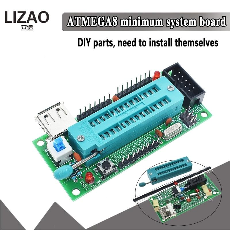 ATmega8 ATmega48 ATMEGA88 AVR con tablero de desarrollo (sin Chip) Nuevo Diy módulo electrónico Diy Kit Diy placa Pcb interfaz USB Cerradura electrónica Puerta de captura 12V 0.4A montaje de liberación solenoide Control de acceso
