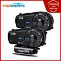 2Pcs Fodsports Fx8 Bluetooth Intercom Motorrad Helm drahtlose Kopfhörer BT Interphone FM Radio 8 Fahrer HD Group Talk 1000M