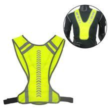 Running Reflective Vest Unisex Warning Night Running Cycling Safety High Visibility Reflective Vest Jacket цена 2017