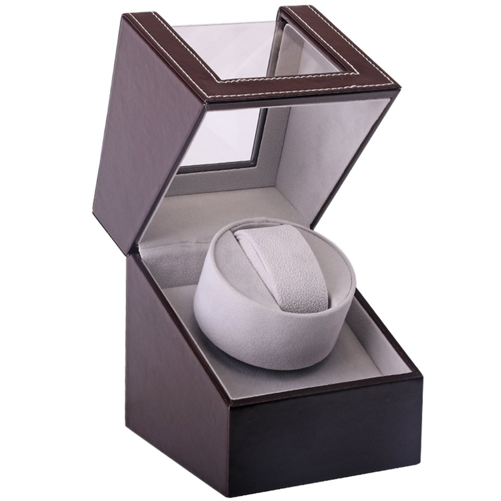 Permalink to Automatic Mechanical Watch Winder Brown Leather Watch Box High Class Motor Shaker Watch Holder Display Jewelry Box New
