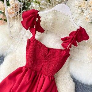 Женское длинное платье с высокой талией, зеленое/красное винтажное платье трапециевидной формы, вечерние платья для женщин 2020