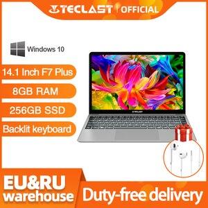 Teclast F7 Plus Laptop 14.1 inch Notebook 8GB RAM 256GB SSD Windows 10 Intel Gemini Lake N4100 Quad Core 1920 x 1080 Ultra Thin(China)