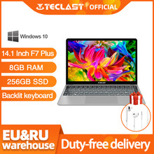 Teclast F7 Plus ordinateur portable 14 pouces 8 go RAM 256 go SSD Windows 10 Intel Gemini Lake N4100 Quad Core 1920x1080 ordinateur portable Ultra mince(China)