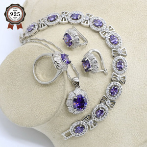 Silver Color Wedding Jewelry S