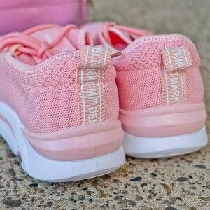 Image 4 - 2020 femmes grosses baskets plate forme rose noir blanc chaussures Tennis formateurs à lacets papa chaussures dames baskets taille 36 42