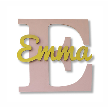 Large Wooden Plywood Name Wall Sign