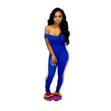 Casual Side Trim Solid Jumpsuit Women Sexy Bodycon O Neck  Jumpsuit Women Sleeveless Sports Skinny Pencil Pants Rompers Women caged neck skinny solid jumpsuit