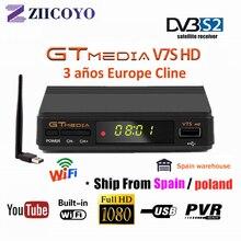 Hot DVB-S2 Freesat V7 hd With USB WIFI FTA TV Receiver gtmed