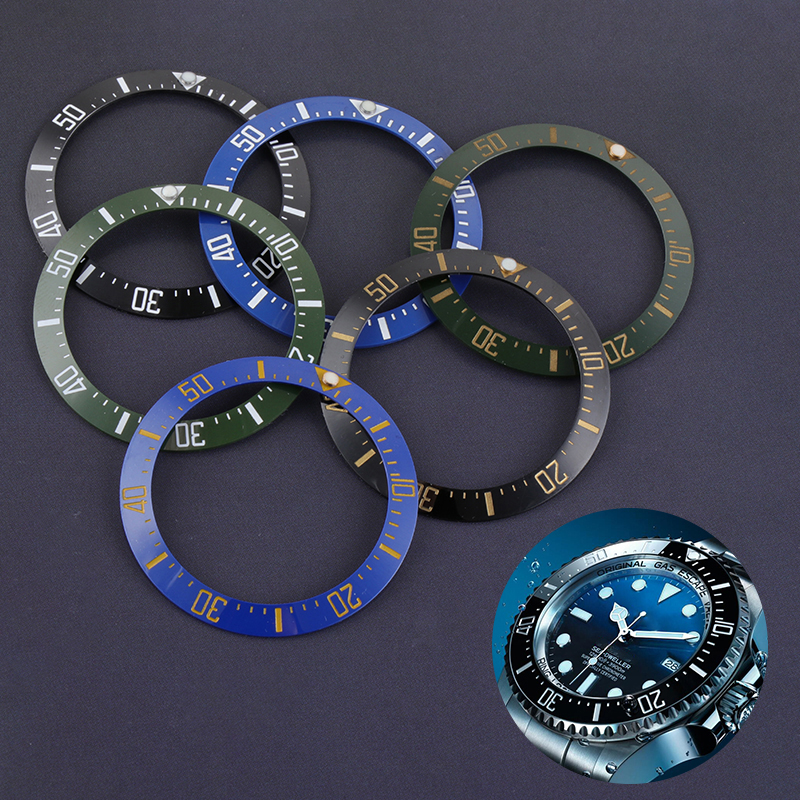 40mm Black Blue Ceramic Bezel Insert For 43mm Dial For Sea Dweller Day Tona Watch Face Watches Replacement Accessories Deep Sea