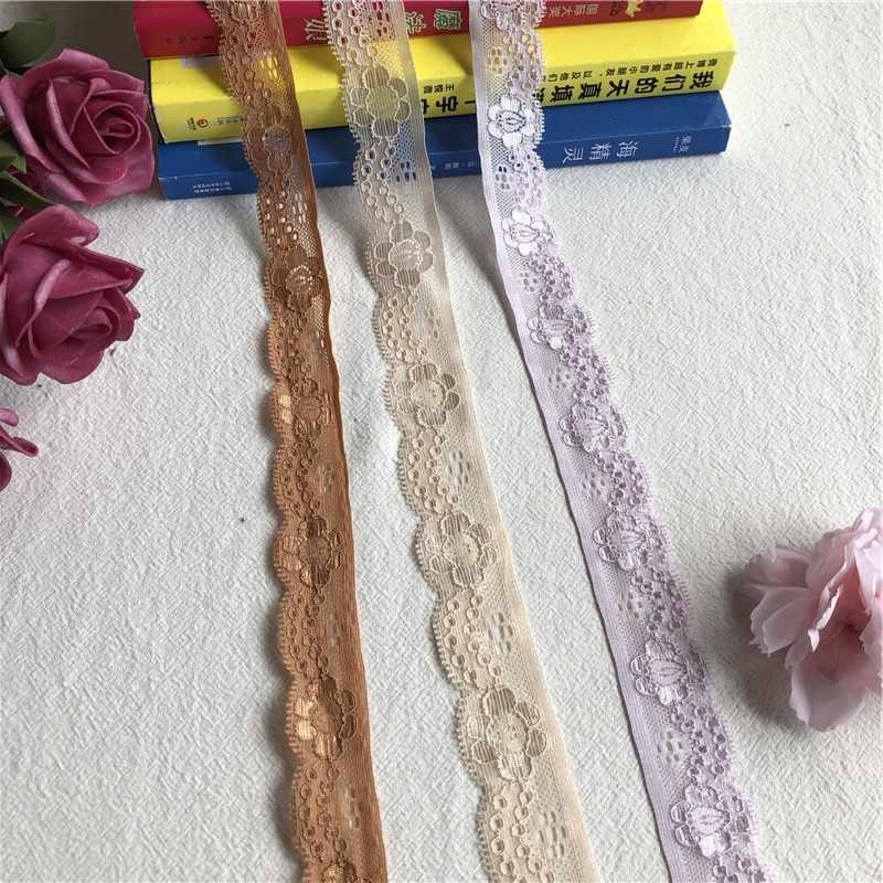 2.5 centimetri S1207 elastico lace trim tessuto di pizzo elasticizzato per il reggiseno biancheria intima abbigliamento lingeire cucire appliques del merletto del cotone