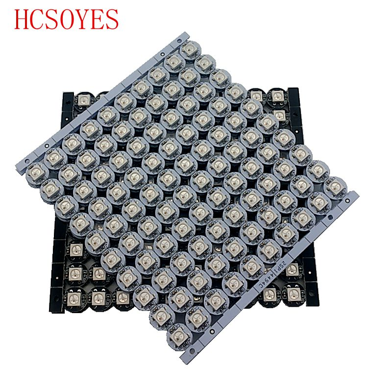 100 Pcs Ws2812 White/black Heatsink Individually Addressable Rgb Full Color Ws2812b Led With Heatsink Dc 5v