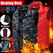 Men Women Outdoor USB Infrared Heating Vest Flexible Electric Thermal Winter Warm Jacket Clothing For Sports Hiking Riding cheap Polyester Back Red Camouflage Adult Men 5V 2ANot included mobile power 45 (Red Light) 35 (White Light) 25 (Blue Light)