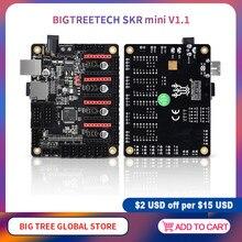 Bigtreetech skr mini v1.1 placa de controle, 32 bits 3d impressora peças tmc2208 tmc2130 spi driver reprap skr v1.3 mks gen l
