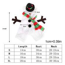 Рождественский костюм для собаки, теплый фланелевый костюм снеговика, наряд для щенка, праздничный Декор M68E