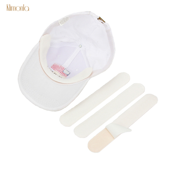 100pcs White Sweat Cap Pads Anti Perspiration Disposable Deodorants Stickers Neck Liner Pads Makeup Tools For Unisex