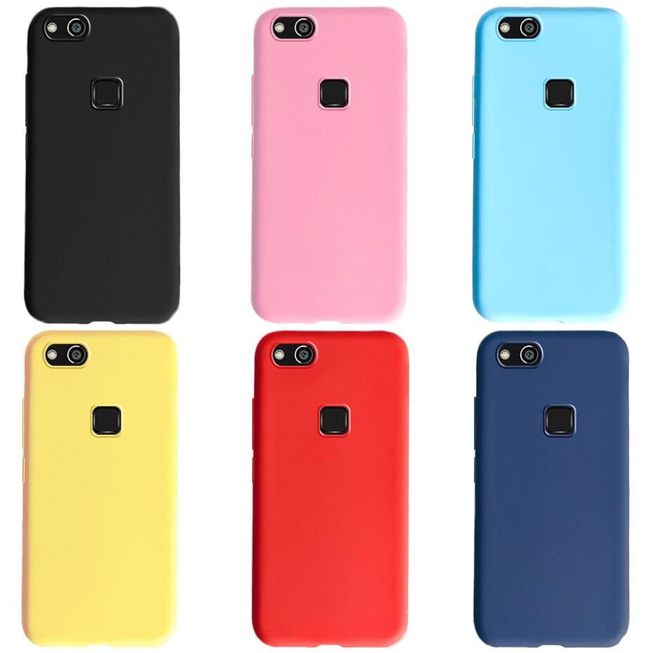 Para huawei p10 lite silicone macio tpu caso capa à prova de choque doces cor capa traseira caso do telefone para huawei p10lite p 10 lite casos