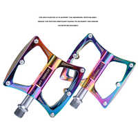 Ultralight Aluminum Alloy Bicycle Pedals MTB Rainbow Mountain Road Cycling Bike Pedals Mountain bicycle parts Free shipping