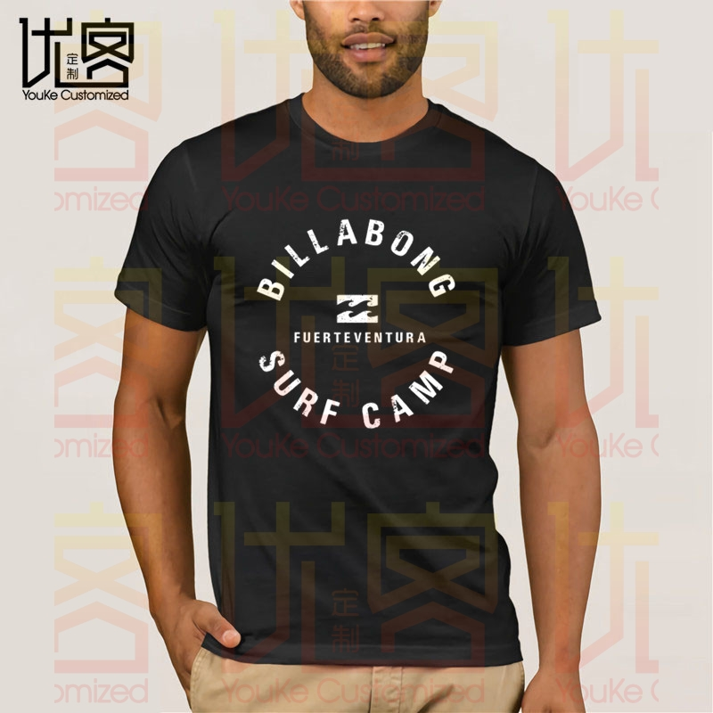 Maglietta Da Uomo A Maniche Corte In Cotone 100% Surf Camp Fuerteventura-Hillabong Da Uomo