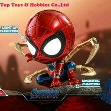 In stock mini figure model for fans collection Hot Toys COSBABY Avengers: Endgame COSB559 Iron Spider PVC Figures HT Model Toys цена в Москве и Питере