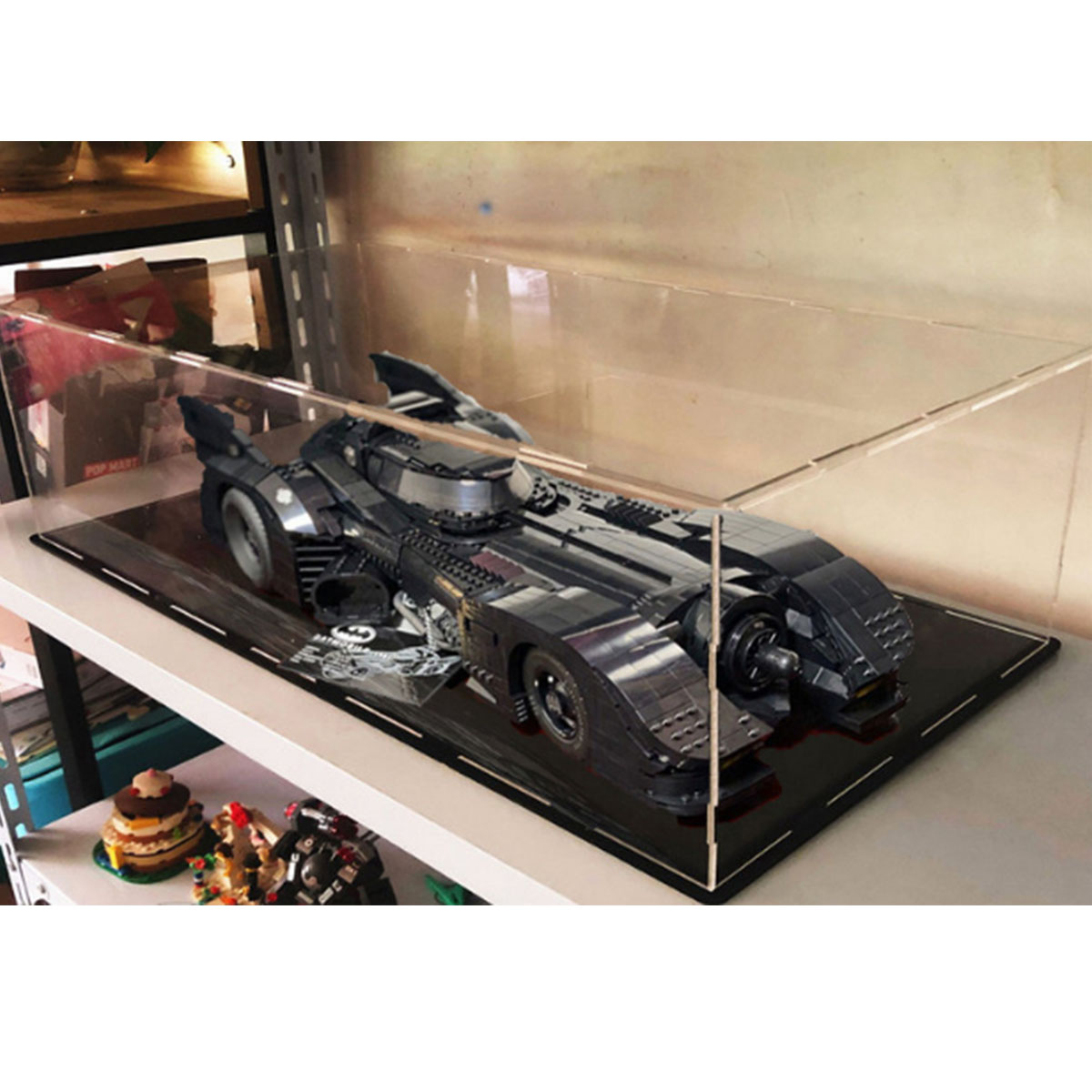 Acrylic Display Case Box For Lego For 76139 Technic For Batman 1989 For Batmobile Blocks Bricks Toy ( Without Model )