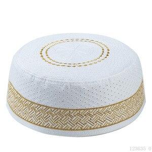 Image 2 - Lo último en sombreros de oración de Musulman Yellow Hui para hombre, sombrero de la semana, sombrero musulmán islámico, gorros de hombre, accesorios de ropa de la nación al por mayor