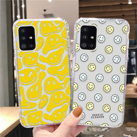 Soft Case Voor Samsung M31 A51 A71 A11 A40 A22 A21 A41 A82 A01 A02 A42 M42 M11 M21S M30S a10S A20S A70 S21 Fe Smiley Airbag Cover