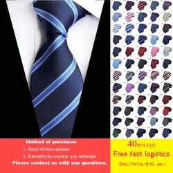 Бесплатная доставка DHL/TNT, 40 шт., 60 стилей, галстук для мужчин, оптовая продажа, классический галстук 8 см для мужчин, 100% шелк, Роскошный Полосат...