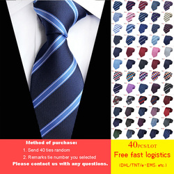 DHL/TNT Free Shipping 40pcs 60 Styles Tie for Man Wholesale Classic 8 Cm Mans Tie 100% Silk Luxury Striped Business Necktie HOT