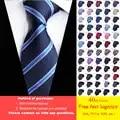 DHL/TNT envío gratis 40 Uds 60 estilos corbata para hombre al por mayor clásica 8 Cm corbata para hombre 100% seda de lujo rayas corbata de negocios caliente