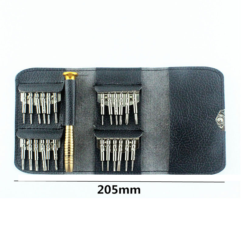 1 Set Portable Multi Functional Wallet Screwdriver Set Kit For New Mobile Computer Watch Glasses Bag Set in Tool Parts from Tools