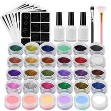 Краска для татуажа набор Нетоксичная Временная флеш-тату макияж набор с 24 цветами вспышки и 6 флуоресцентных цветов для Хэллоуина