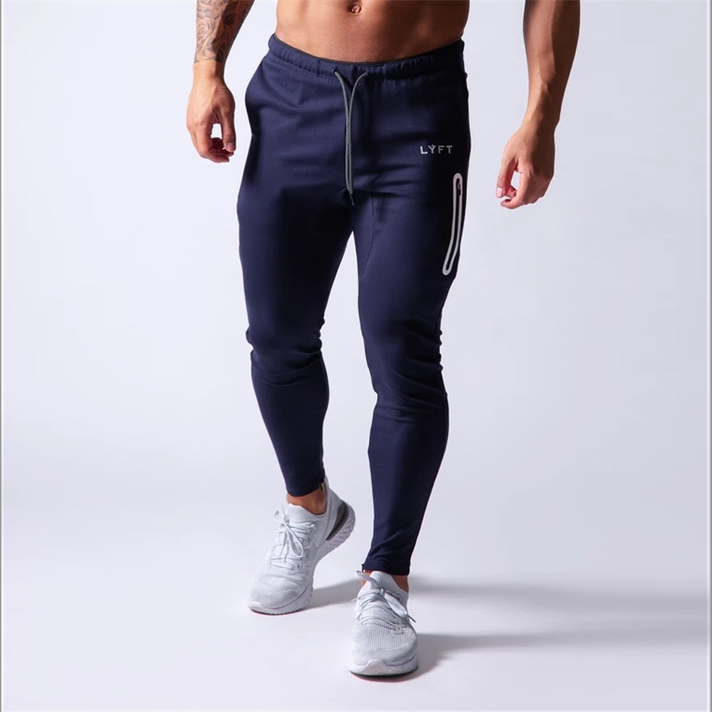 New Jogging Pants Men Sport Sweatpants Running Pants Men Joggers Cotton Trackpants Slim Fit Pants Bodybuilding Trouser 20CK01-2 2