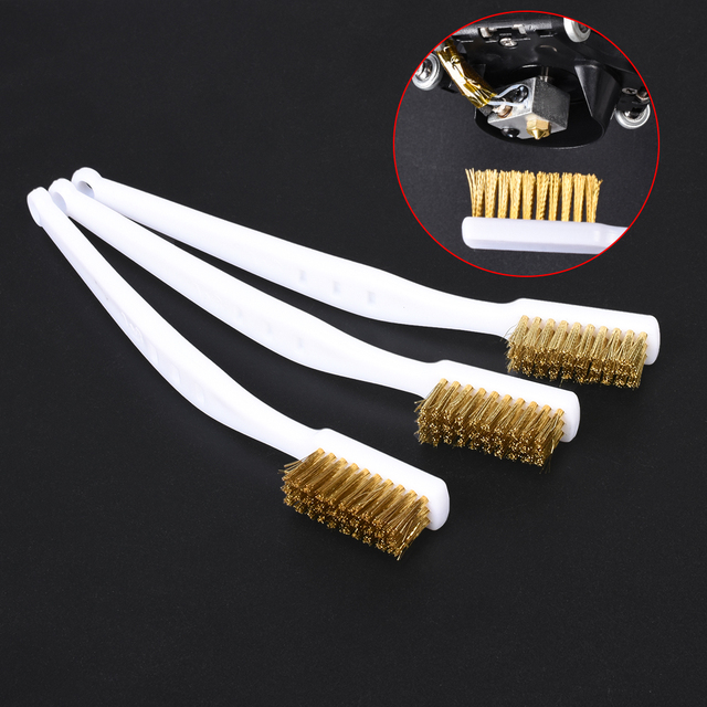 3D Printer Cleaner Tool Copper Wire Toothbrush Copper Brush Handle For Nozzle Heater Block Hotend Cleaning Hot Bed Parts 1