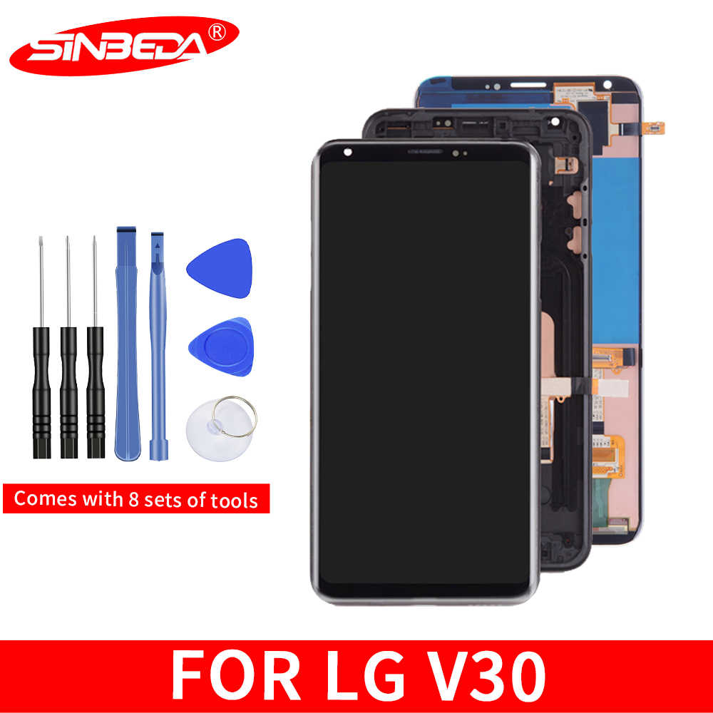 "Sinbeda 6.0"" OLED For LG V30 H930 LCD Display Touch Screen with Frame Digitizer Assembly For LG V30 LCD VS996 LS998U H933 LS998U"