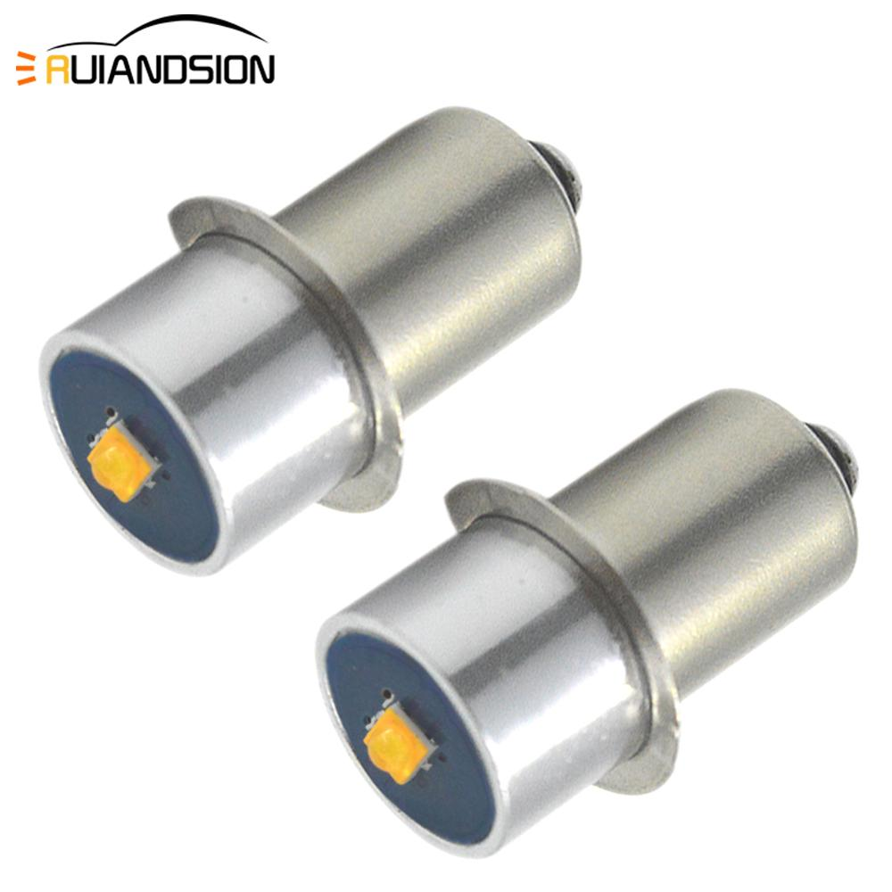 2x E10 <font><b>P13.5S</b></font> LED CR-EE Chip Bulb 3V 4.5V <font><b>6V</b></font> 9V 12V 18V 6-24V Maglite Mini Torch Flashlight Flash Light Replacement <font><b>3W</b></font> Spot Lamp image