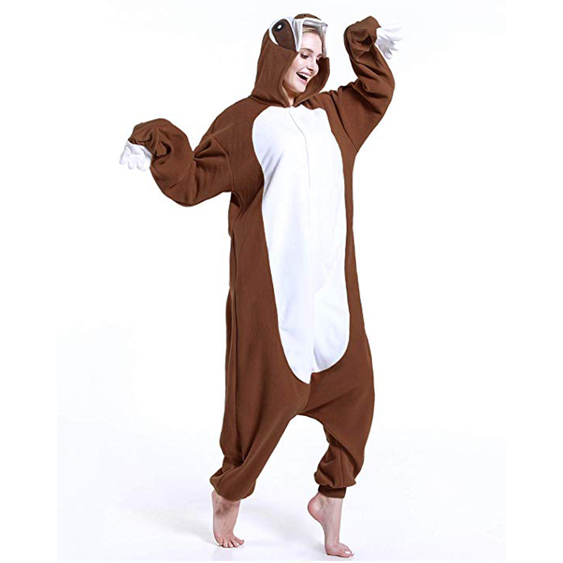 Sloth Unisex Adult One-Piece Pajamas Cosplay Onesies Cartoon Adult Onepiece Animal Sleepwear Pyjamas Christmas Halloween Costume