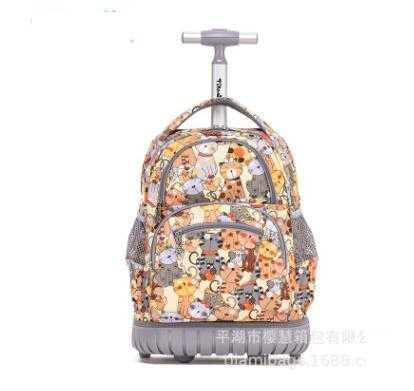 Saco de escola rodas escola rolando mochila sacos crianças viagem trole mochila 16 polegada escolar rodas mochila para a menina