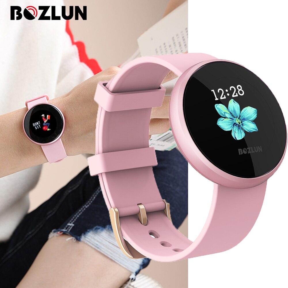 Bozlun Smart 12 langues montre numérique femmes russe fréquence cardiaque calories femme période rappel montre-bracelet Relogio Inteligente