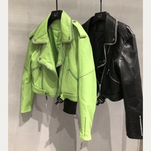 Woman Coats Natural Sheepskin Leather 2019 Fashion Female Motorcycle Jackets Real Sheepskin LeatherJackets Best Sellers cheap YUKOU zipper Drop-shoulder Full Sashes Leather Suede NONE Polyester WOMEN Short Office Lady Turn-down Collar