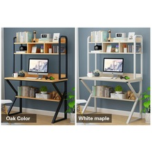 Laptop Desk with Shelves Computer Desk with CPU Stand 4 layer  Home Office Gaming Table Workstation Study Writing Desk