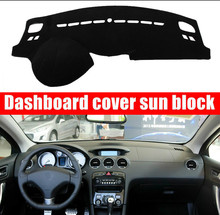 цена на For Peugeot 408 2010-2013 Right and Left Hand Drive Car Dashboard Covers Mat Shade Cushion Pad Carpets Accessories