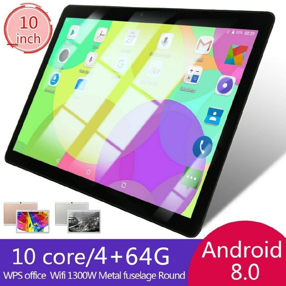 "10"" Inch Tablet PC 4+64GB Android 8.0 Dual SIM Dual Camera GPS Wi-Fi Phablet New Android Tablet Pad From Factory"