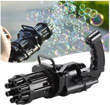 Bath Toys Outdoor Toy Gatling Bubble Machine Wedding Supplies Electric Sound Light Automatic Bubble Blower Maker Gun Kids Toy