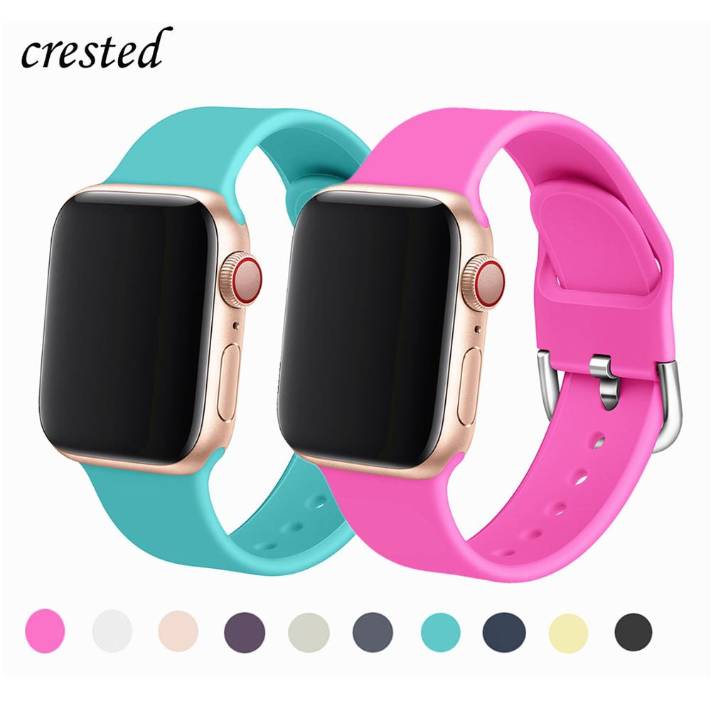 Silicone Strap For Apple Watch Band 44 Mm 40mm IWatch Band 42mm 38mm Sports Watchband Bracelet Apple Watch 5 4 3 2 38/40 42/44mm