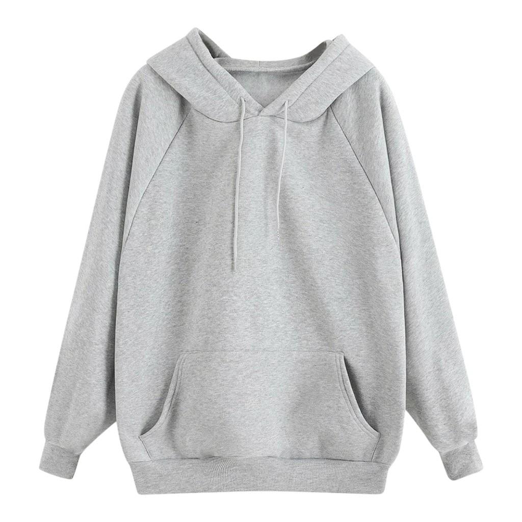 Hoodies Women 2021 Autumn Fleece Pocket Hooded Casual Sweatshirt Hip Hop Classic Hoody Tops Women Pullover Clothing Blouse d4