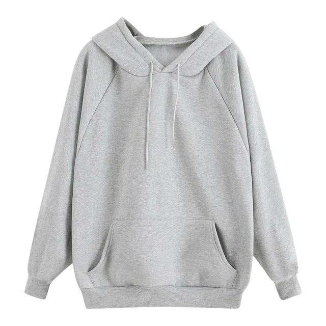 Hoodies Women 2021 Autumn Fleece Pocket Hooded Casual Sweatshirt Hip Hop Classic Hoody Tops Women Pullover Clothing Blouse d4 1