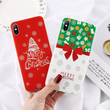 ottwn Christmas Luminous Phone Case For iPhone 7 6 6s 8 Plus X XR XS Max Snow Flowers Santa Tree Soft TPU Silicone Back Cover